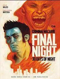 Criminal Macabre: Final Night - The 30 Days of Night Crossover